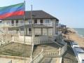 """База отдыха """"Дельфин"""". Адрес: Дагестан, Махачкала,  , напротив селения Гамиах (район Кривой Балки)."""